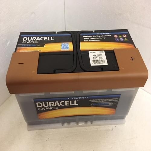 Duracell DA100 Advanced Car Battery (019