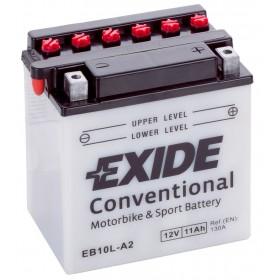 Exide EB10L-A2 12v 10Ah Wet Motorcycle Battery Exide Motorcycle