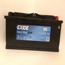 Exide EK1050 Stop/Start AGM Car Battery