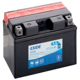 Exide ET12A-BS 12v 9.5 AGM Motorcycle Battery Exide Motorcycle