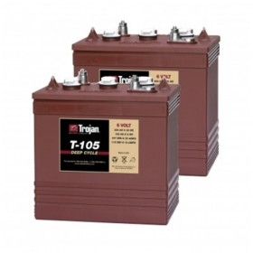 Trojan T-105 6v 225Ah Deep Cycle Batteries X 2 (T105) Trojan Leisure