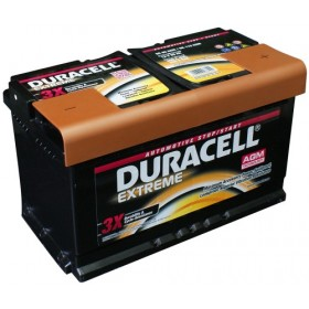 Duracell DE80 AGM Extreme Start - Stop Car Battery (115/F21)