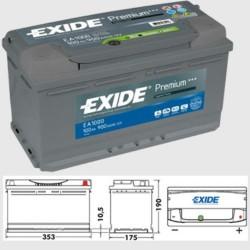 Exide EA1000 Premium Battery (017/019) Exide Agricultural
