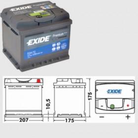 Exide EA472 Premium (063)