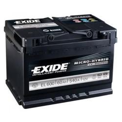 Exide EL600 Stop/Start Battery (027 EFB) Exide Stop/Start