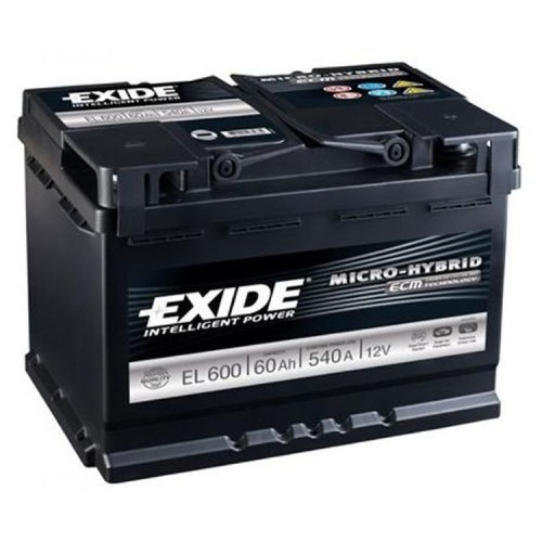 exide el600 stop start battery 027 efb. Black Bedroom Furniture Sets. Home Design Ideas