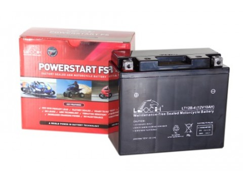 Leoch YT12B-BS 12v 10Ah Motorcycle Battery Leoch Mototcycle