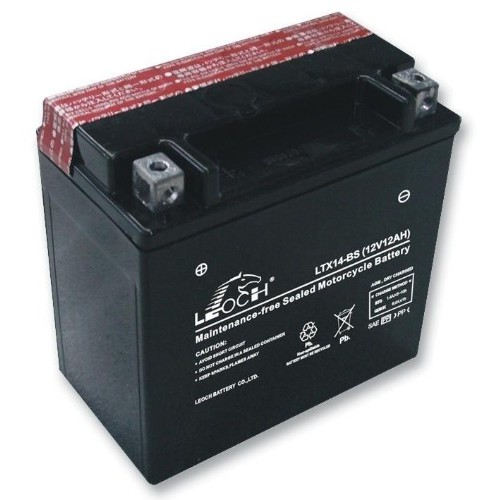 leoch ytx14ah bs 12v 12ah motorcycle battery. Black Bedroom Furniture Sets. Home Design Ideas