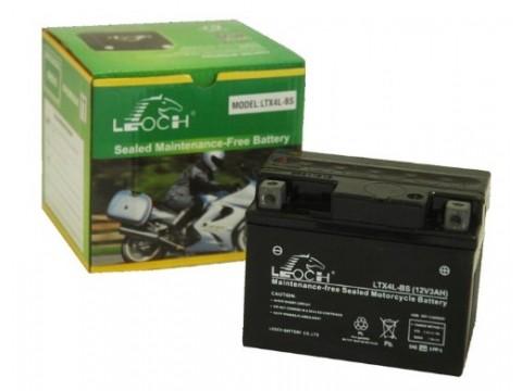 Leoch YTX4L-BS 12v 3Ah Motorcycle Battery Leoch Mototcycle