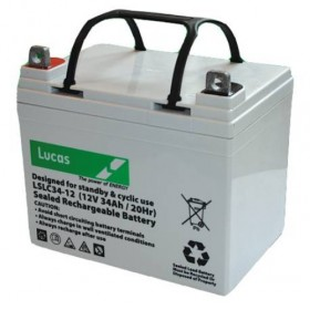 Lucas LSLC34-12 Mobility Battery (34-12) Lucas Golf Trolley