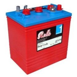 Rolls 6V 6-FS-250 Deep Cycle Battery Rolls Golf Buggy