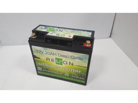 Relion Lithium RB20DP 12v 20Ah Lithium Battery