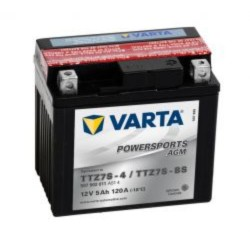 Varta TTZ7S-BS Funstart AGM Motorcycle Battery (507 902 011) (YTZ7SBS) 12V 5Ah Varta Funstart AGM